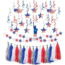 Fourth Of July Party Supplies Red Blue White 4th Decorations American Independence Day Backdrop