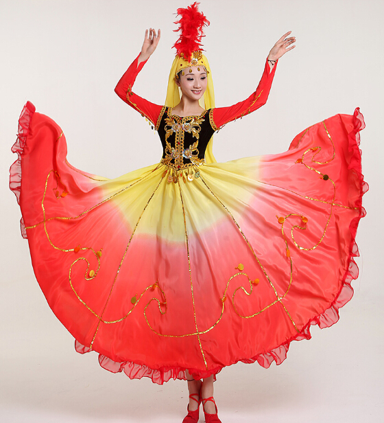 ef3d09ac3384 2017 Direct Selling Disfraces Dance Costumes Chinese Folk Dance ...