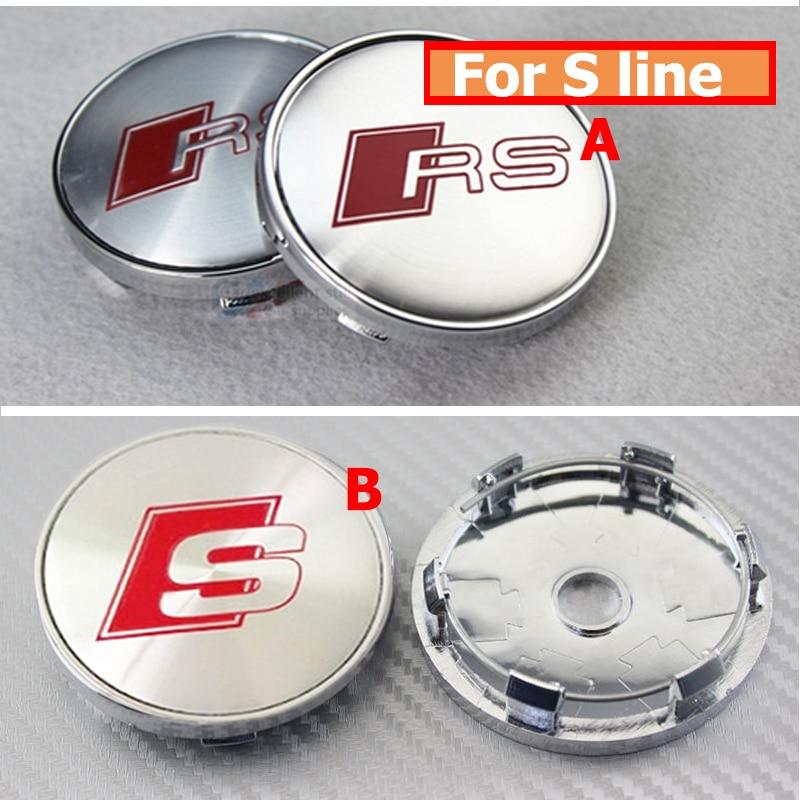 Best Match Auto accessories 20Pcs 60mm Wheel Hub Label Cap Auto Wheel Center Logo Cover aluminum pvc for RS S