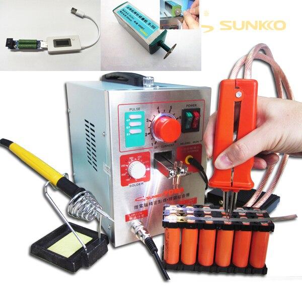 Soudeuse par points de batterie d'impulsion de 3.2kw LED, 709a, Machine de soudure par points pour la batterie 18650, soudure par points + 1 appareil de contrôle d'ensemble + 1 ensemble S-30