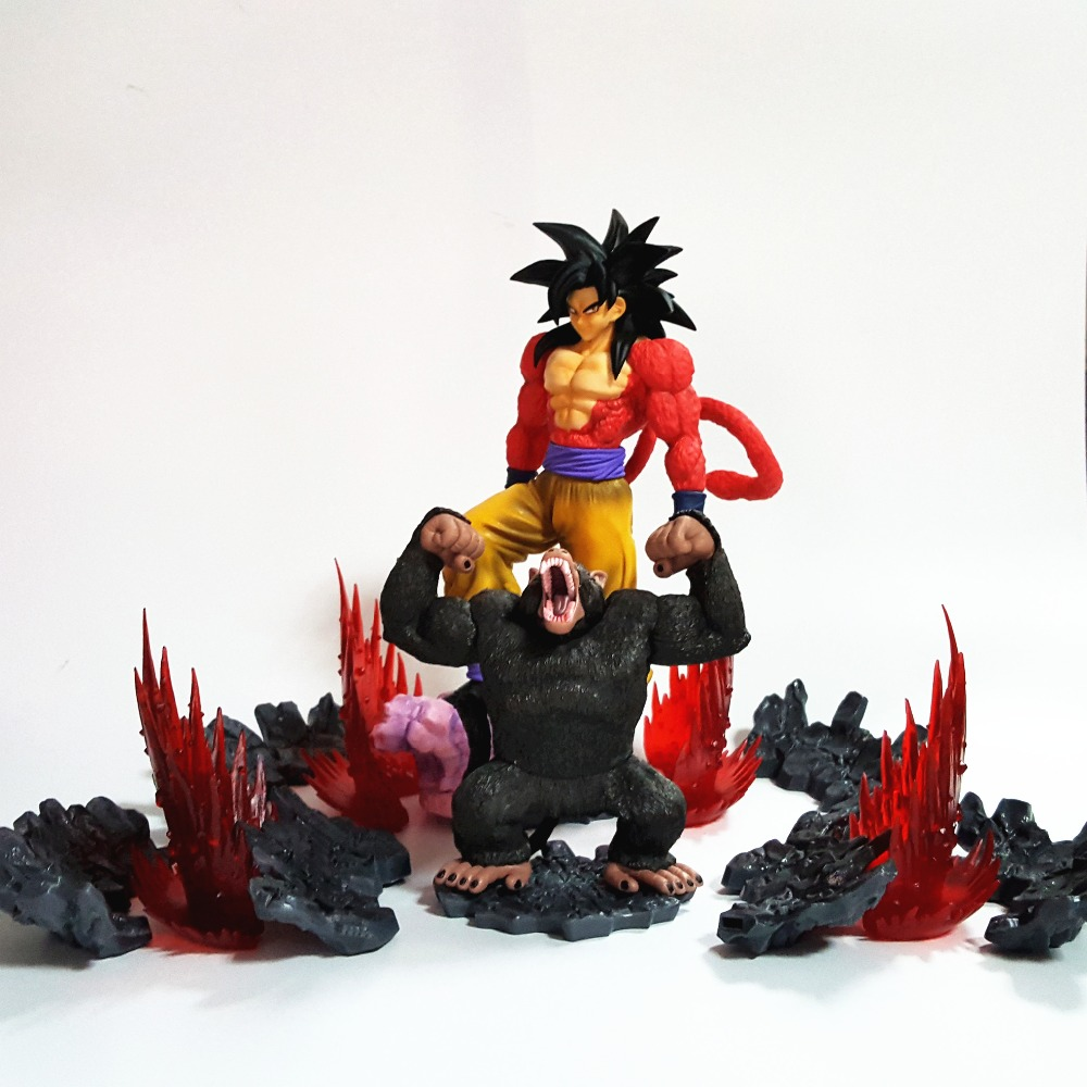 Dragon Ball Figurine Toys Goku Super Saiyan 4 Ape Anime Dragon Ball Z Son Goku PVC Action Figures Figuras De Coleccion 1pc lot chocolate goku anime dragon ball z figure super saiyan pvc action figures brinquedos collectible model kids toys 29cm