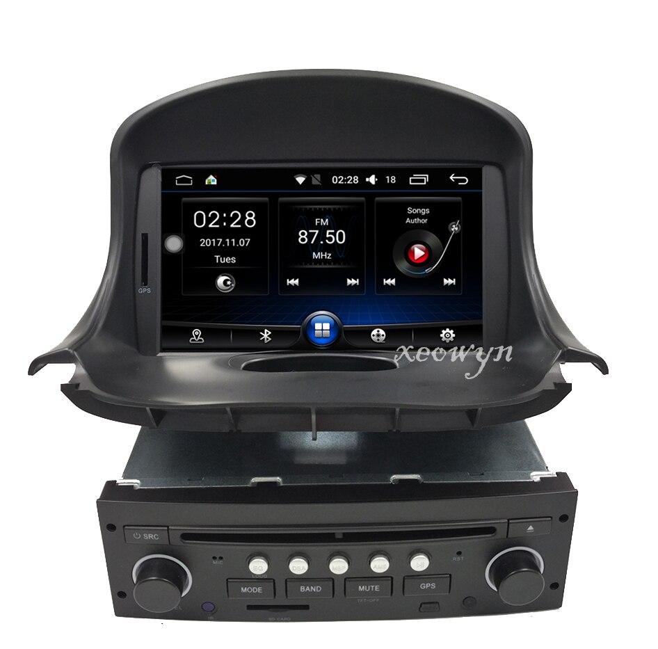 quad core android 6 0 voiture dvd gps pour peugeot 206 206cc navigation bluetooth radio ipod. Black Bedroom Furniture Sets. Home Design Ideas