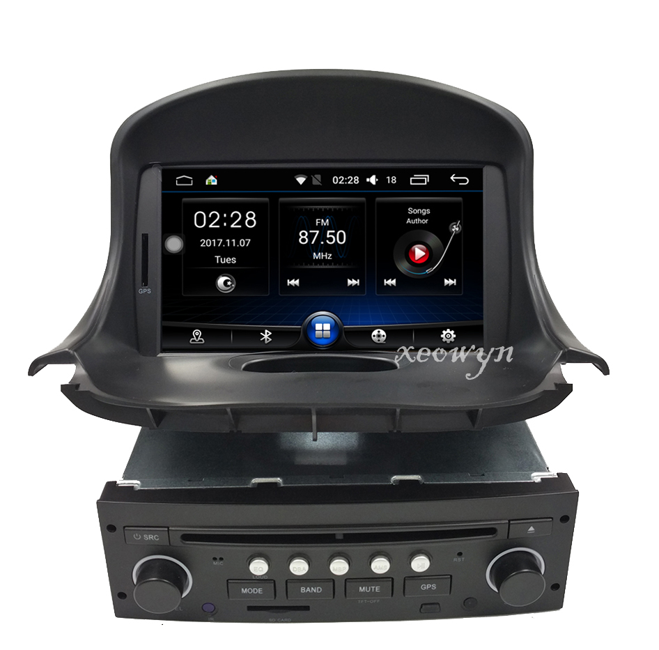 quad core android 6 0 voiture dvd gps pour peugeot 206. Black Bedroom Furniture Sets. Home Design Ideas