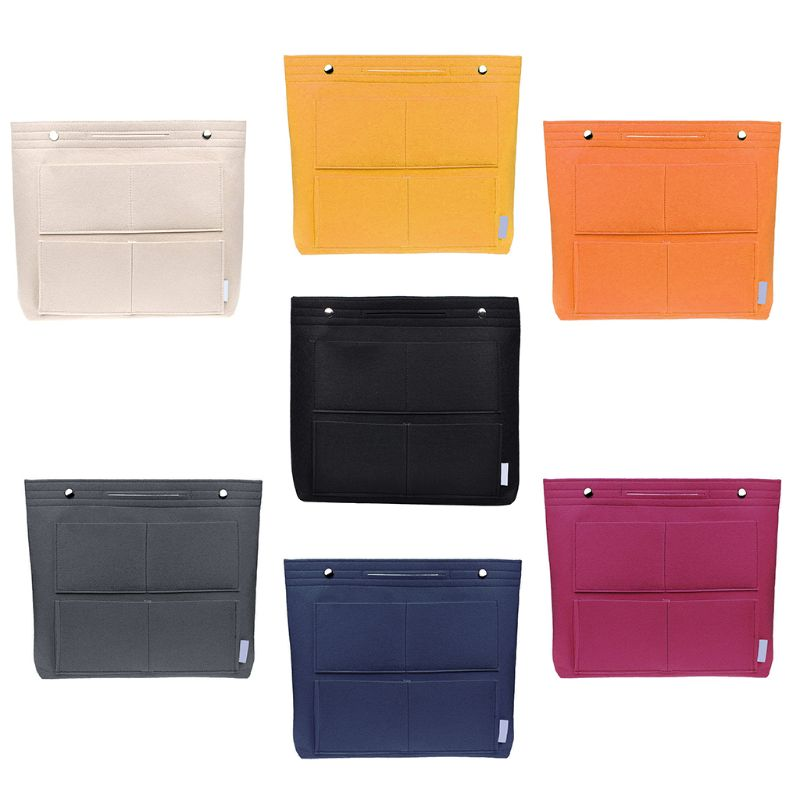 Handbag Organizer Bag Purse Insert Bags Felt Fabric Multi-Pocket Storage ToteHandbag Organizer Bag Purse Insert Bags Felt Fabric Multi-Pocket Storage Tote