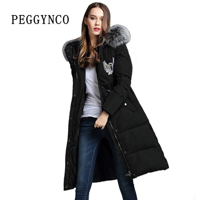 Noir Vetements D Hiver Femme A Capuche Hiver Chaud Manteau Avec Un