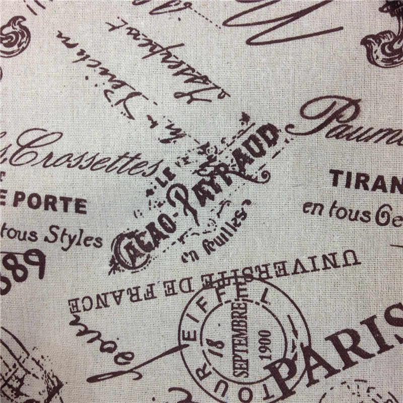 レトロプリントロンドンコットンリネン混紡生地diyの縫製張りリネン生地用カーテンテーブルクロス家の装飾材料