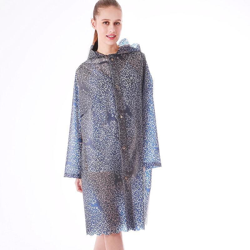 Yuding Women Raincoat Impermeable Fashion Woman/adults Lace TPU Tour for Gir Lady Lady