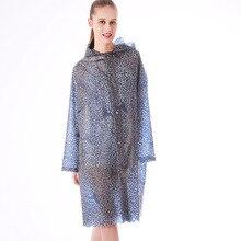 Yuding Women Raincoat TPU Impermeable Rainwear Lace Fashion Hooded Touring Long for Woman/Adults\Gir\Lady Abrigo Mujer