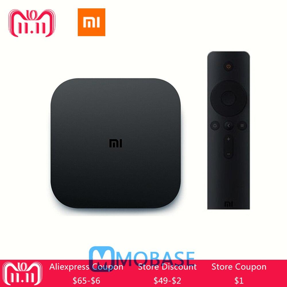 D'origine XIAOMI Mi Boîte 4C Android TV Box 6.0 Amlogic Cortex-A53 1 gb/8 gb Quad Core 64bit 4 k HDR TV Boîte DTS-HD 2.4g WiFi andHDMI
