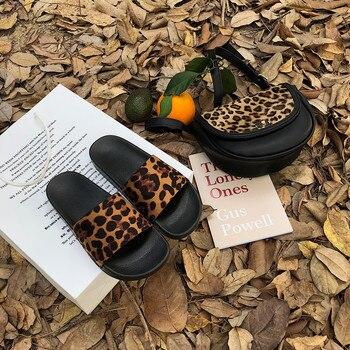 Summer Slippers Women Slides Leopard Indoor & Outdoor Slippers Platform Sandals Shoes Women Slip On Flip Flops Zapatillas Mujer 2