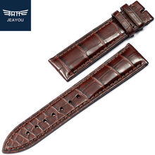 JEAYOU Brand New Double Alligator Material Leather Watchbands For PP/VC/Omega For Men/Women 18/19/21/22mm