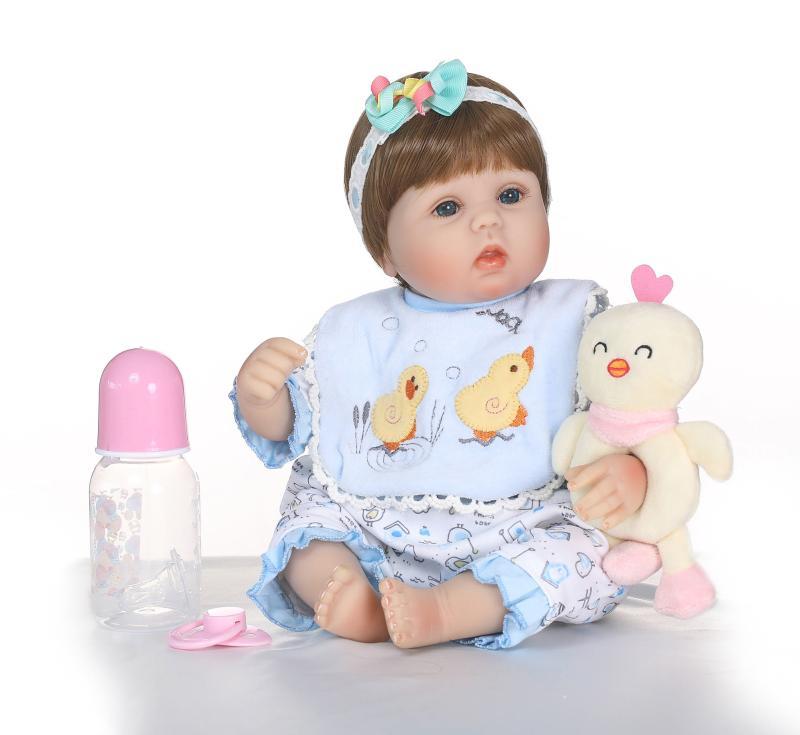 40cm Soft Cloth Body Silicone Newborn Dolls Best Children Bebe Gift Dolls Bonecas Menina Girl Doll Reborn40cm Soft Cloth Body Silicone Newborn Dolls Best Children Bebe Gift Dolls Bonecas Menina Girl Doll Reborn