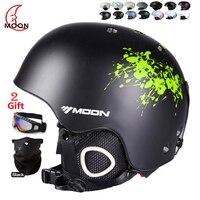 MOON New Fashion Ski Helmet Breathable Ultralight Skiing Helmet 28 Colors CE Certification Snowboard Skateboard Helmet