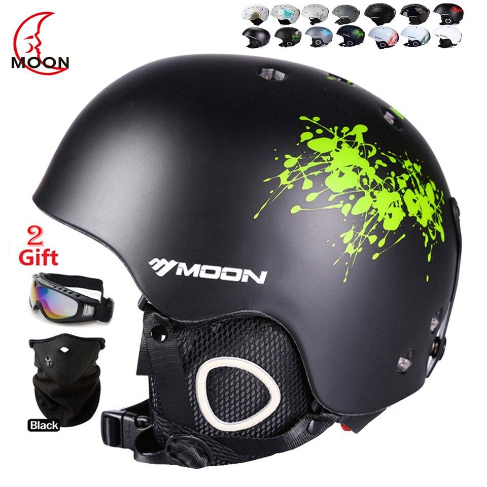 ФОТО MOON New Ski Helmet Breathable Ultralight Skiing Helmet 28 Colors CE Certification Snowboard/Skateboard Helmet