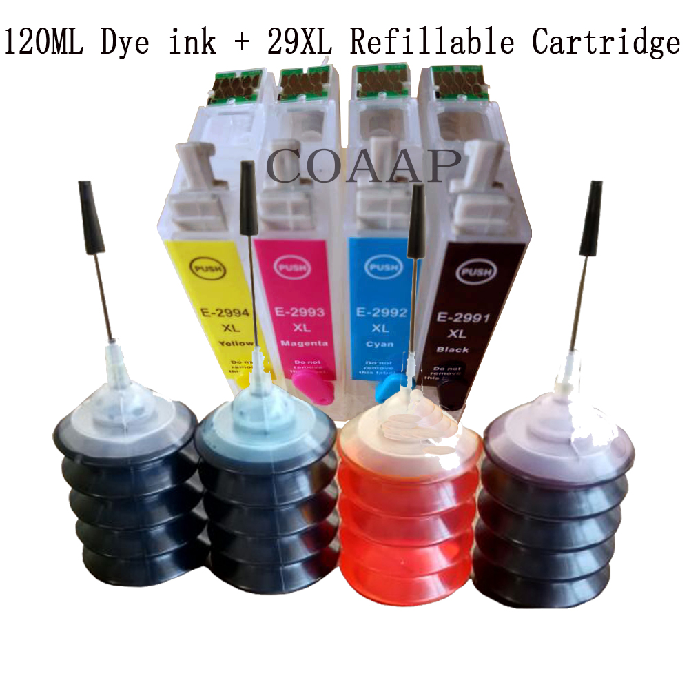 4pcs 29 XL Refillable Epty ink cartridge for <font><b>EPSON</b></font> XP235 XP335 XP432 XP435 XP332 XP442 XP342 <font><b>XP345</b></font> XP247 XP245 Printer image