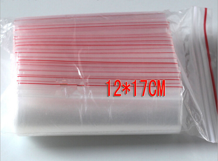 300pcs 12x17cm pe transparent travel gift packaging bags plastic bag for necklace/jewelry diy custom ziplock clear self seal bag