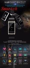 Smartch N108 Смарт Браслет монитор сердечного ритма Приборы для измерения артериального давления Фитнес трекер SmartBand Водонепроницаемый смарт-браслет для IOS Android