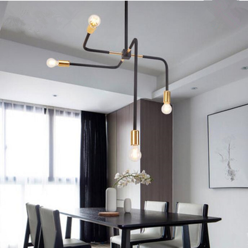 Modern Nordic Indoor Gold Pendant Light Iron Indoor Lamp Living Dining Room Bar Coffee Shop Decoration LED Lighting Fixture led pendant light modern nordic style indoor living room dining room pendant lamp home decoration lighting e27 without bulbs