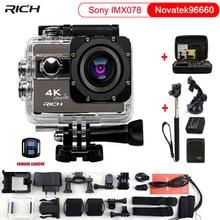 REICHE Action Kamera F68 F68R Novatek 96660 Sprachfunktionen 170D Breite winkel 4 Karat 2 zoll HDMI Wasserdicht go pro stil sport-kamera