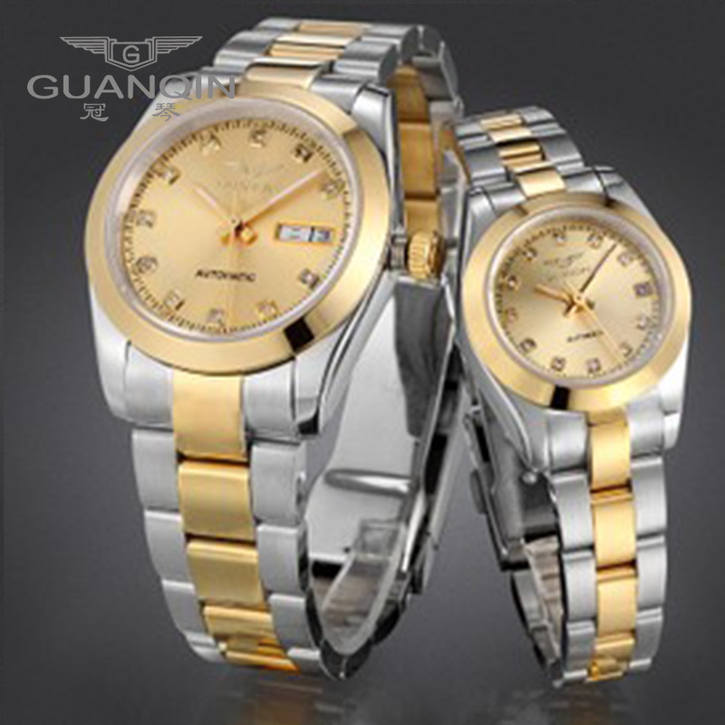 GUANQIN Luxus Liebhaber uhren Original Top Marke Luxus Paar Uhren Armbanduhr Mode Wasserdicht Männer und Frauen Armbanduhren - 4