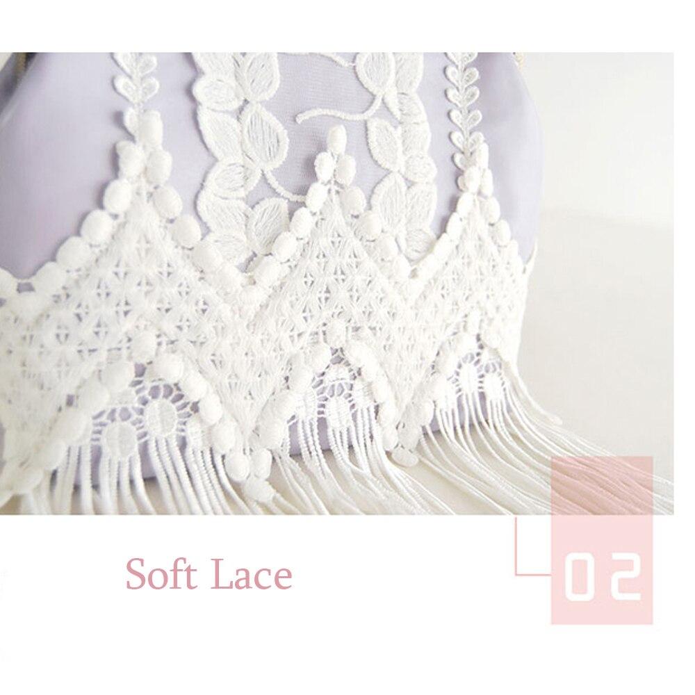 Purple Dress Clutch Elegant Lace Lady Bags Vintage Wave Pattern Mini