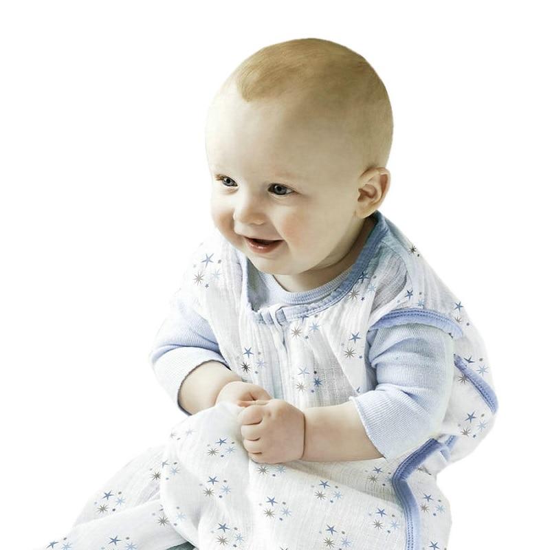 100% Муслин Хлопок Детские тонкие спальный мешок для летнего ребенка без рукавов Конверты для малышек saco de dormir Para Bebe мешки kf484