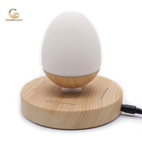 Magnetic Levitation Speaker Goldbulous 3D Stereo Sound Audio System For IPhone Android MP3 Wireless LED Light