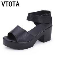 Fashion Summer Women Shoes Platform Soft PU Shoes Women Wedges Open Toe Lady Sandalias Trifle High
