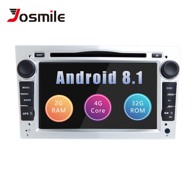 Josmile 2 Din Android 8.1 AutoRadio DVD Multimedia Für Opel Vectra C Zafira B Vivaro Astra H G Corsa C D merivaAntara Navigation