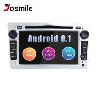Josmile 2 Din Android 8.1 AutoRadio DVD Multimedia For Opel Vectra C Zafira B Vivaro Astra H G Corsa C D MerivaAntara Navigation