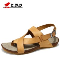 Z Suo Men Sandals Genuine Leather Cowhide Sandals Outdoor Casual Men S Summer Shoes Soft Bottom