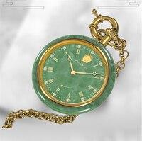 Новые мужские деловые карманные часы Мужские механические перспективные окна Популярные нефритовые модные карманные часы классические ко