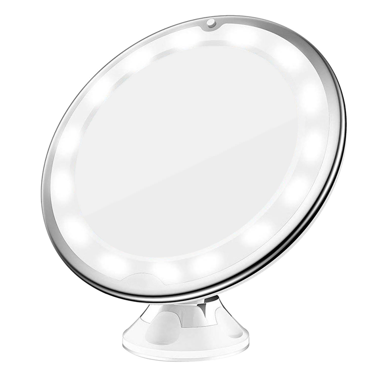 360 Degree Rotation LED 10x Magnification Makeup Mirror with Suction Cup for Bedroom Bathroom Dressing Table Makeup Room 5