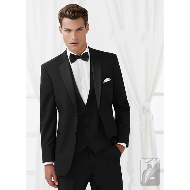 4783193e9b40 Custom Made novio esmoquin groomsmen negro noche de la cena de boda trajes  para hombre mejor