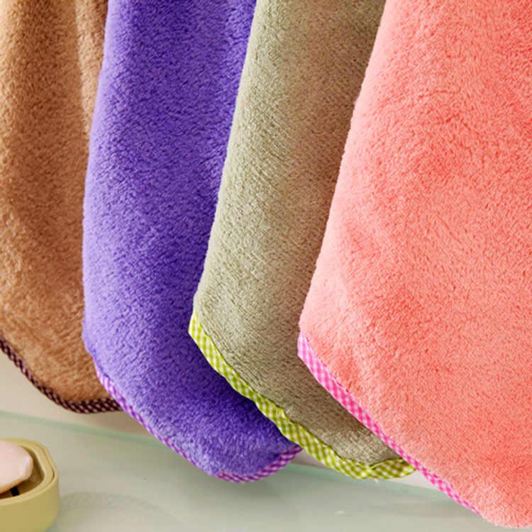 Toalla de mano de bebé de terciopelo de Coral de conejo de mano Linda toalla de mano para limpiar toallas de baño colgantes Baberos y eructos paños de 1 PC