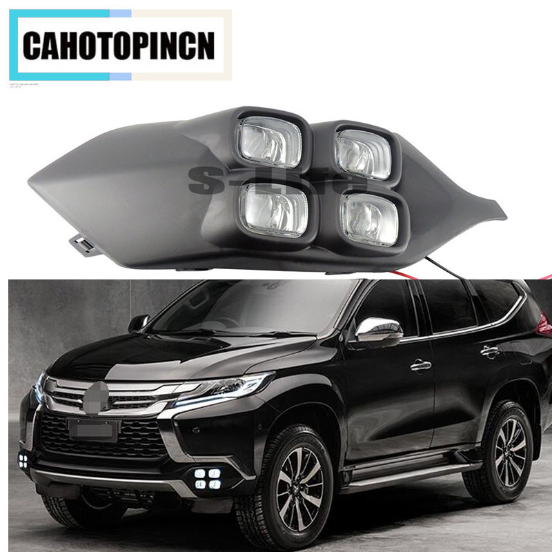 4Eyes Super Brightness Car Accessories ABS 12V LED Daytime Running Light DRL Lamp For Mitsubishi Pajero