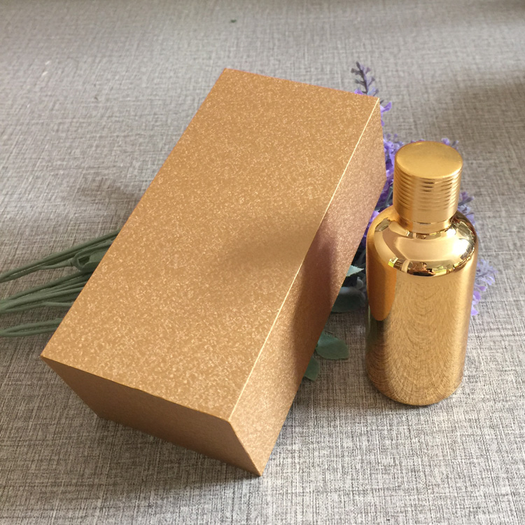 4pcs 50ml vacuum plating golden empty capsule bottle With wooden box,glass essential oil bottle,lotion cosmetics subpackage jar illusion money box dream box money from empty box wonder box magic tricks props comedy mentalism gimmick