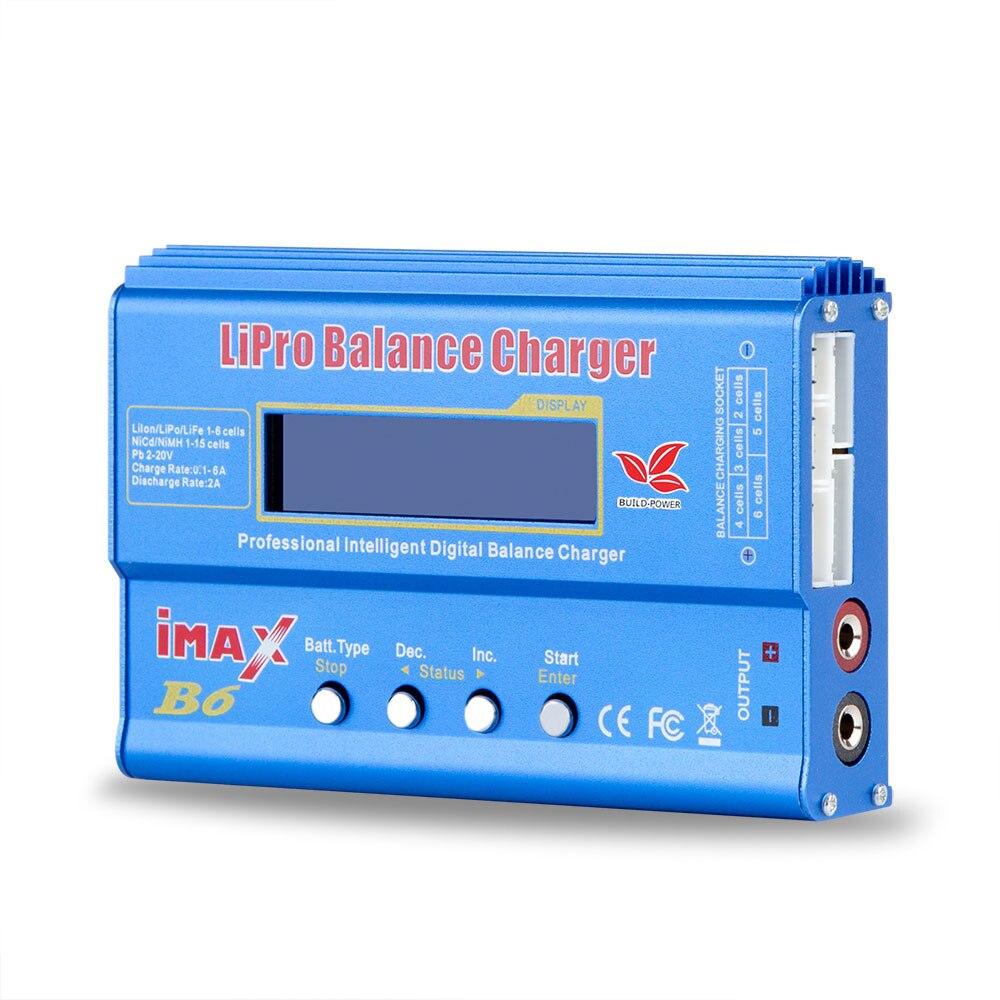 Build-power Lipro Balance Ladegerät iMAX B6 ladegerät Lipro Digitale Balance Charger + 12 v 6A Netzteil Ladekabel