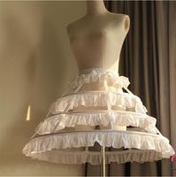 new hot Women Cosplay Vintage Medieval Victorian Gothic Lolita Fishbone Petticoat Underskirt for Ball Gown