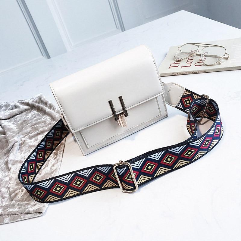 New Women Fashion Width Shoulder Bags INS Popular Female Exquisite Solid Handbag Mini Flap Lady Travel Chains Crossbody SS3474 (8)