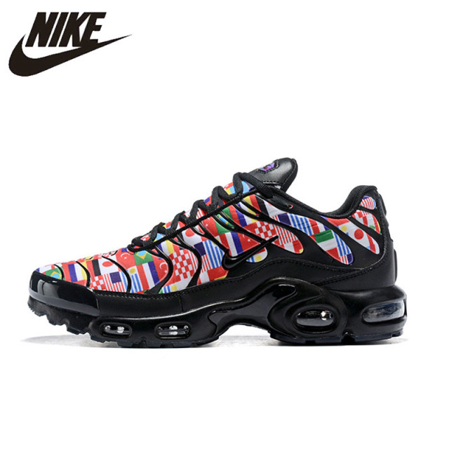 los angeles 767f5 a5cc3 US $96.6 30% OFF|Original New Nike Air Max Plus TN Mens Running Shoes  International Flag Nike Air Max Plus TN Men Sneakers Running Shoes 8909-in  ...