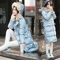 2016 Plus Size European Long Slim Winter Jacket Women New Warm Down Cotton Hooded Parka Fashion Hot Sale Padded Coat WUJ0375