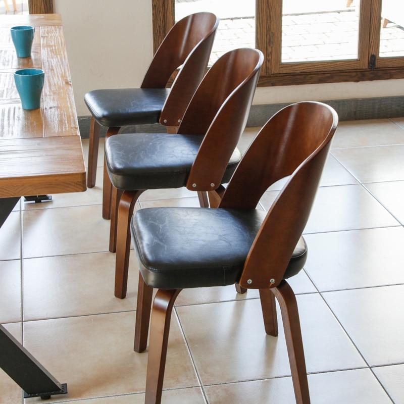 Hot Fashion 100% chaise en bois chaise café chaise de Bar style japonais à manger chaise salon meubles en cuir coton coussins