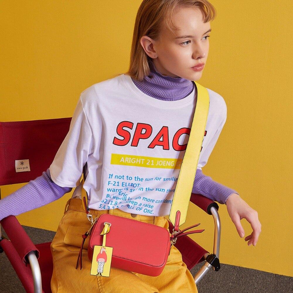 LOEIL Bag female 2018 new Korean fashion crossbody bag female student shoulder small bag genuine handbag цена