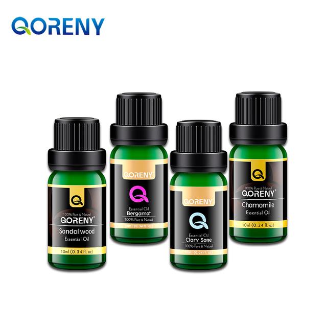 Óleo de sálvia 10 ML + 10 ML de óleo essencial de sândalo + Camomila óleo essencial de 10 ML + 10 ML de óleo essencial de bergamota 100 & Pure Naturals