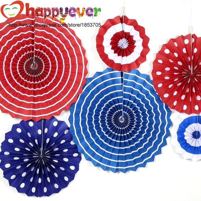 comprar un juego patritico abanicos de papel redondo rueda de cumpleaos fiesta de los nios decoracin de la pared jardn de infantes en