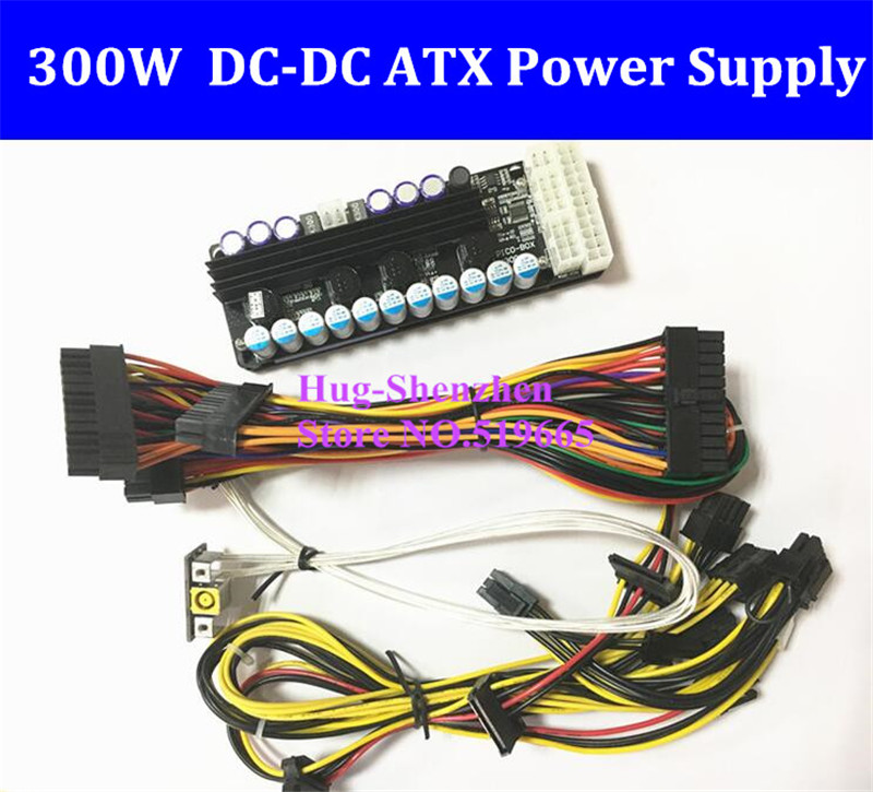 X300, 300w output, 16-24v wide input DC-DC ATX Power Supply (VR Ready Pico PSU) MINI ITX DC to Car ATX PC Power Module GTX1070 dc atx 120w mini itx htpc power supply module multicolored dc 11 4 12 6v