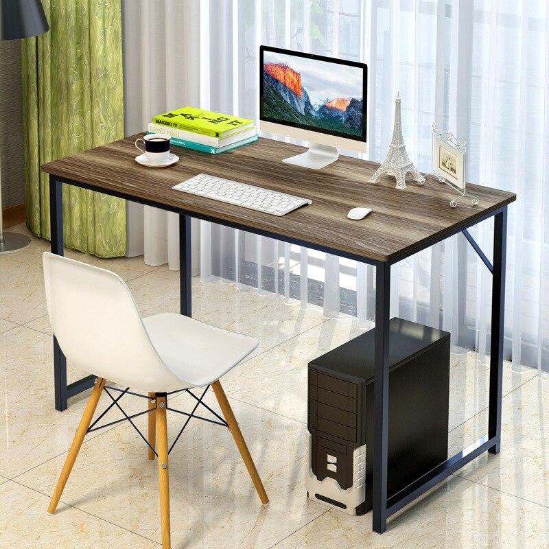 LK1660 Moderne Ordinateur Stand Accueil Étudiant Étude/Table D'écriture Forte Appui Simple Bureau Bureau Résistant Aux Rayures MDF + Acier