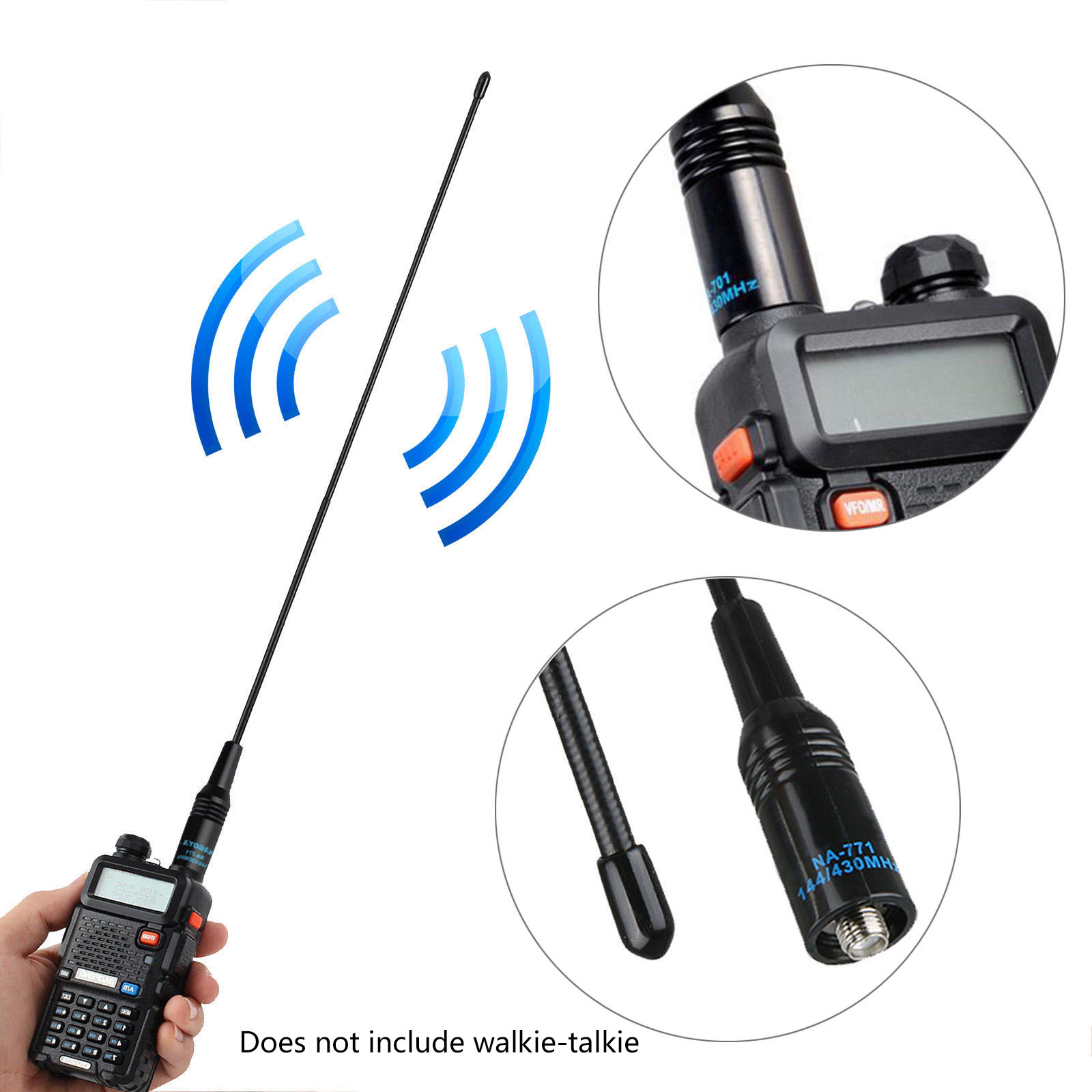 1PC NA-771 SMA-F SMA Female For Baofeng UV-5R UV-B5 UV-B6 BF-888S Two Way Radio Dual Band VHF/UHF 144/430MHz Antenna