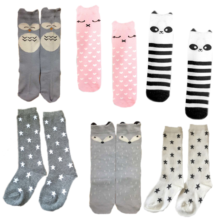 6 Designs Baby Socks Children Boy Girl Training Sock